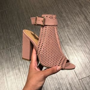 NWT - Blush Pink Peep Toe Comfy Booties